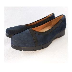 CLARKS Artisan Nubuck Slip On Shoes 8.5